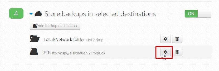 """FTP destination """"Edit"""" button."""