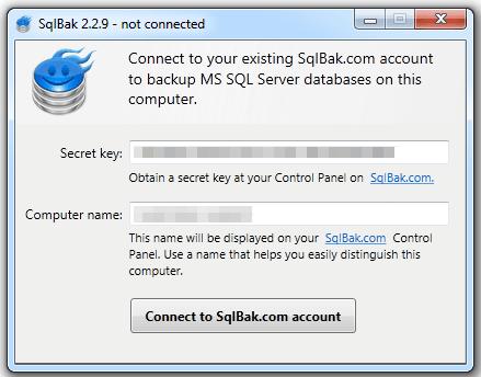"""Manage multiple SQL backups """"Secret Key"""""""